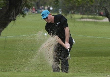 Frank Lickliter II blasts from the sand  during first-round competition March 3, 2005  at the Ford Championship at Doral in Miami.