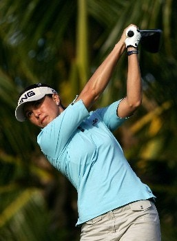 KAPOLEI, HI - FEBRUARY 23:  Stacy Prammanasudh watches her tee shot on the second hole during the second round of the Fields Open at Ko Olina Golf Club on February 23, 2007 in Kapolei, Hawaii.  Prammanasudh finished her round at 10 under par.  (Photo by Harry How/Getty Images)