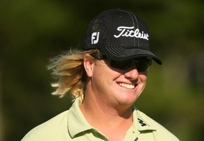 Charley Hoffman smiles as he walks off the 13th green during the second round of the Deutsche Bank Championship, the second event of the new PGA TOUR Playoffs for the FedexCup at TPC Boston on September 1, 2007 in Norton, Massachusetts. PGA Tour - 2007 Deutsche Bank Championship - Second RoundPhoto by Scott Halleran/WireImage.com