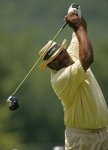 ENDICOTT, NY - JULY 15:  Jim Thorpe  during the final round of the Dick's Sporting Goods Open being held at En Joi Golf Club in Endicott, NY on July 15, 2007. (Photo by Mike Ehrmann/WireImage) *** Local Caption *** Jim Thorpe Champions Tour - 2007 Dick's Sporting Goods Open - Final RoundPhoto by Mike Ehrmann/WireImage) *** Local Caption *** Jim Thorpe