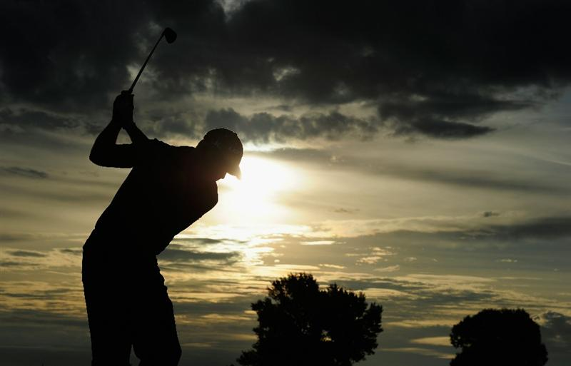 VIENNA, AUSTRIA - SEPTEMBER 15:  Phillip Archer of England hits a shot during the pro - am prior to the Austrain golf open presented by Botarin at the Diamond country club on September 15, 2010 in Atzenbrugg near Vienna, Austria.  (Photo by Stuart Franklin/Getty Images)