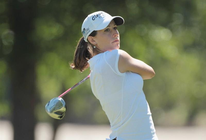 MOBILE, AL - APRIL 29:  Paige Mackenzie hits her tee shot on the 11th hole during the second round of the Avnet LPGA Classic at the Crossings Course at the Robert Trent Jones Trail at Magnolia Grove on April 29, 2011 in Mobile, Alabama  (Photo by Scott Halleran/Getty Images)
