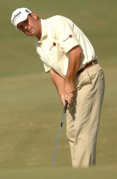 Harrison Frazar putts on the 16th green during the final round of the 2005 Valero Texas Open at La Cantera in at La Cantera Country Club in San Antonio, Texas September 25, 2005.Photo by Steve Grayson/WireImage.com
