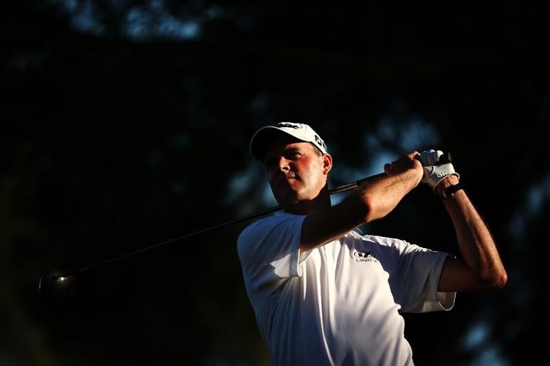 SYDNEY, AUSTRALIA - DECEMBER 13:  David Smail of New Zealand tees off on the 18th hole during the third round of the 2008 Australian Open at The Royal Sydney Golf Club on December 13, 2008 in Sydney, Australia.  (Photo by Brendon Thorne/Getty Images)