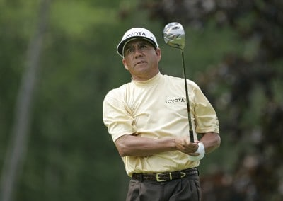Esteban Toledo competes in the first round of the B.C. Open held on the Atunyote course at Turning Stone Resort in Vernon, New York, on July 20, 2006.Photo by Chris Condon/PGA TOUR/WireImage.com