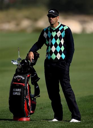 DOHA, QATAR - JANUARY 27:  Alvaro Quiros of Spain waits to play on the ninth hole during the Pro Am prior to the start of the Commercialbank Qatar Masters at Doha Golf Club on January 27, 2010 in Doha, Qatar.  (Photo by Andrew Redington/Getty Images)