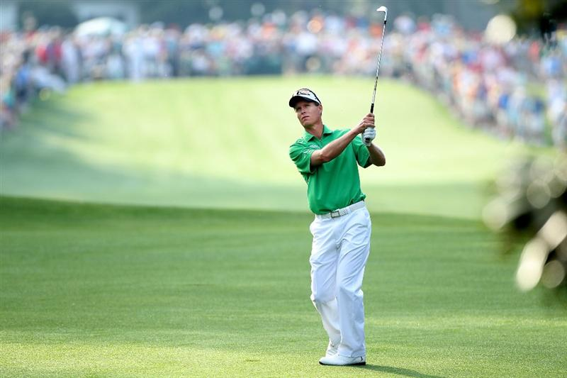 AUGUSTA, GA - APRIL 08:  John Senden of Australia hits a shot on the first hole during the first round of the 2010 Masters Tournament at Augusta National Golf Club on April 8, 2010 in Augusta, Georgia.  (Photo by Andrew Redington/Getty Images)