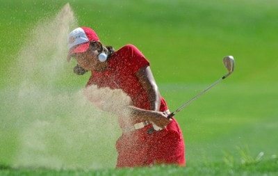 Julieta Granada  blasts out of the grennside bunker on the 4th green during the 2006 State Farm Classic at the Rail Golf Club in Springfield, Illinois on Sunday Septembr 3, 2006Photo by Marc Feldman/WireImage.com