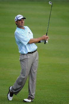 ORLANDO, FL - MARCH 14: Dicky Pride hits his second shot on the eighth hole during the second round of the Arnold Palmer Invitational at Bay Hill Club and Lodge on March 14, 2008 in Orlando, Florida. (Photo by Scott A. Miller/Getty Images)