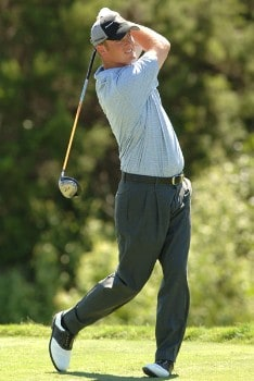 Tag Ridings hits from the ninth tee during the third round of the 2005 Valero Texas Open at La Cantera in at La Cantera Country Club in San Antonio, Texas September 24, 2005.Photo by Steve Grayson/WireImage.com