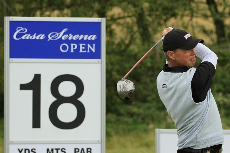 KUTNA HORA, CZECH REPUBLIC - SEPTEMBER 19:  Gary Wolstenholme of England in action during the final round of the Casa Serena Open played at Casa Serena Golf on September 19, 2010 in Kutna Hora, Czech Republic.  (Photo by Phil Inglis/Getty Images)