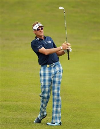 CASARES, SPAIN - MAY 19:  Ian Poulter of England in action during the group stages of the Volvo World Match Play Championship at Finca Cortesin on May 19, 2011 in Casares, Spain.  (Photo by Andrew Redington/Getty Images)