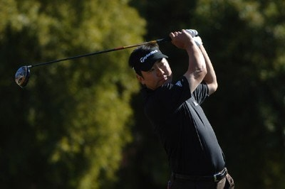 Charlie Wi follows his shot during the final round of the FBR Open held at the TPC Scottsdale, February 4, 2007 in Scottsdale, Arizona. PGA TOUR - 2007 FBR Open - Final RoundPhoto by Marc Feldman/WireImage.com