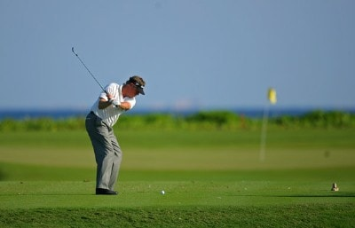 Michael Allen hits his tee shot on the 7th hole during the first round Mayakoba Golf Classic at El Camaleon at Mayakoba in Playa Del Carmen, Mexico on February 22, 2007. PGA TOUR - 2007 Mayakoba Golf Classic - First RoundPhoto by Mike Ehrmann/WireImage.com