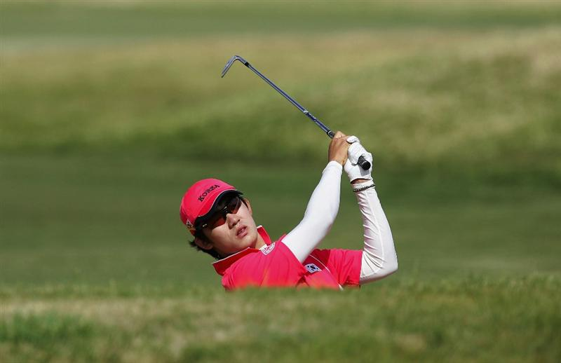 ADELAIDE, AUSTRALIA - OCTOBER 19:  Kim Bi-O of Korea plays a shot during the final day of the Eisenhower Trophy, which is part of the 2008 World Amateur Team Championship, held at Grange Golf Club October 19, 2008 in Adelaide, Australia.  (Photo by James Knowler/Getty Images)