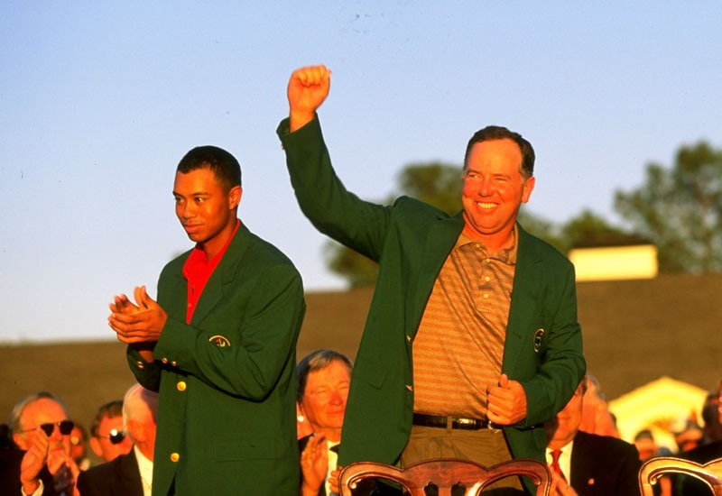 Tiger Woods and Mark O'Meara