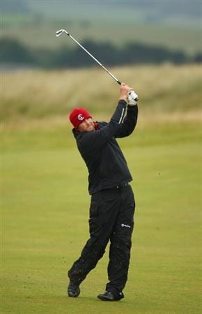 TURNBERRY, SCOTLAND - JULY 17:   Steve Marino of USA hits his approach shot on the 8th hole during round two of the 138th Open Championship on the Ailsa Course, Turnberry Golf Club on July 17, 2009 in Turnberry, Scotland.  (Photo by Richard Heathcote/Getty Images)