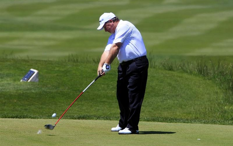 MALLORCA, SPAIN - MAY 07:  Ian Woosnam of Wales plays his second shot to the 7th hole during the Pro-Am at the Son Gual Mallorca Senior Open played at Son Gual Golf on May 7, 2009 in Mallorca, Spain  (Photo by Phil Inglis/Getty Images)