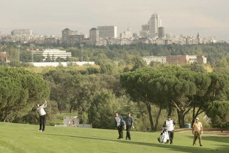 Maarten Lafeber during the first round of the 2005 Open De Madrid at the Campo De Golf in Madrid, Spain on October 13, 2005.Photo by Pete Fontaine/WireImage.com