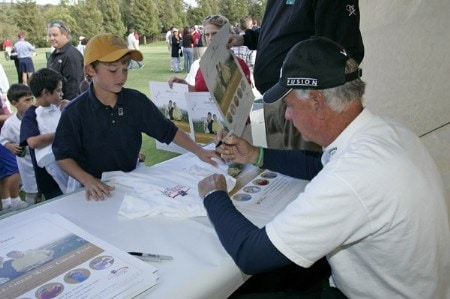 Champions Tour players Bruce Fleisher and Mark McNulty give a youth clinic on Tuesday October 25, during the 2005 Schwab Cup Championship at Sonoma Golf Club - Sonoma, California.Photo by Chris Condon/PGA TOUR/WireImage.com