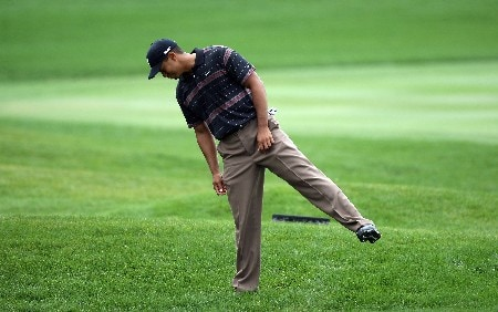 ORLANDO, FL - MARCH 15:  Tiger Woods of the USA finds a poor lie for his second shot at the 1st hole during the third round of the 2008 Arnold Palmer Invitational presented by Mastercard at the Bay Hill Golf Club and Lodge, on March 15, 2008 in Orlando, Florida.  (Photo by David Cannon/Getty Images)