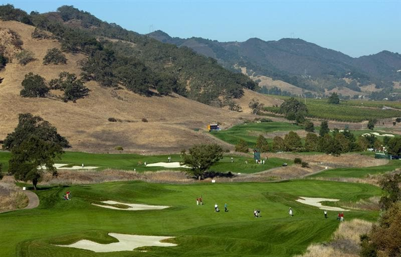 SAN MARTIN, CA - OCTOBER 15:  General view of the sixth hole during the second round of the Frys.com Open at the CordeValle Golf Club on October 15, 2010 in San Martin, California.  (Photo by Robert Laberge/Getty Images)