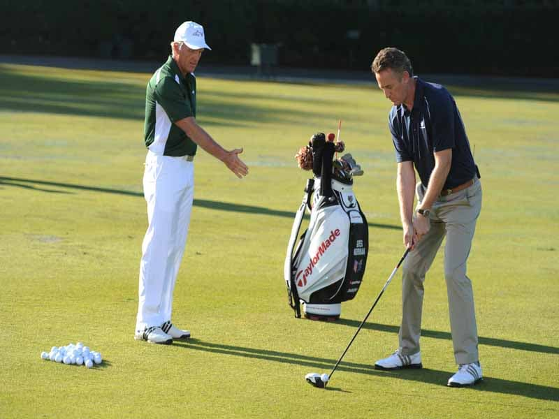 Golf Channel Academy, Rich Lerner and Greg Norman