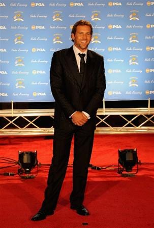 LOUISVILLE, KY - SEPTEMBER 17:  Sergio Garcia of Spain and European team member arrives on the red carpet for the Ryder Cup Gala dinner prior to the start of the 2008 Ryder Cup September 17, 2008 in Louisville, Kentucky.  (Photo by Sam Greenwood/Getty Images)