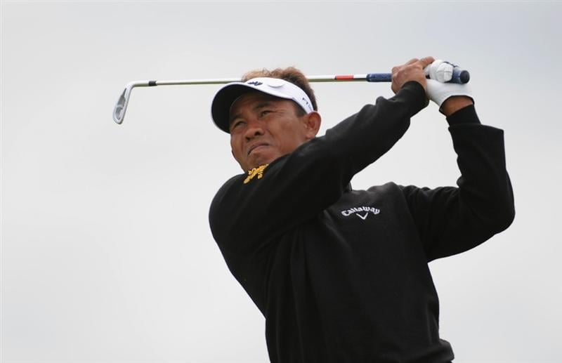 TURNBERRY, SCOTLAND - JULY 18:  Thongchai Jaidee of Thailand tees off during round three of the 138th Open Championship on the Ailsa Course, Turnberry Golf Club on July 18, 2009 in Turnberry, Scotland.  (Photo by Harry How/Getty Images)
