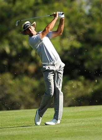PALM HARBOR, FL - MARCH 22:  Alvaro Quiros of Spain plays a shot on the seventh hole during the final round of the Transitions Championship at the Innisbrook Resort and Golf Club March 22, 2009 in Palm Harbor, Florida.  (Photo by Sam Greenwood/Getty Images)