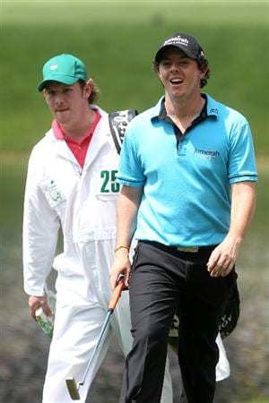 AUGUSTA, GA - APRIL 07:  Rory McIlroy walks to a green during the Par 3 Contest prior to the 2010 Masters Tournament at Augusta National Golf Club on April 7, 2010 in Augusta, Georgia.  (Photo by Andrew Redington/Getty Images)