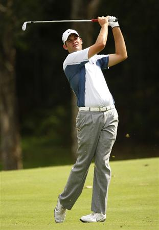 COOLUM BEACH, AUSTRALIA - DECEMBER 04: Tim Stewart of Australia plays a shot during day one of the Australian PGA Championship at the Hyatt Regency Resort on December 4, 2008 at Coolum Beach, Australia.  (Photo by Cameron Spencer/Getty Images)