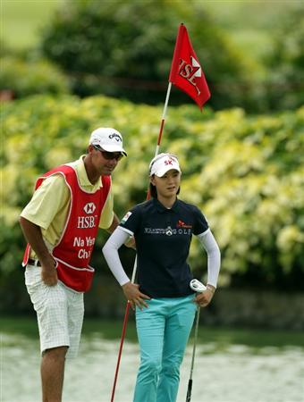 SINGAPORE - FEBRUARY 25:  Na Yeon Choi of South Korea during the second round of the HSBC Women's Champions at Tanah Merah Country Club  on February 25, 2011 in Singapore, Singapore.  (Photo by Ross Kinnaird/Getty Images)