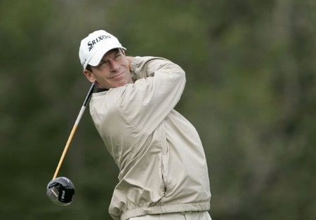 John Huston in action during the second round of the Chrysler Classic of Greensboro at Forest Oaks Country Club in Greensboro, North Carolina on September 30, 2005.Photo by Michael Cohen/WireImage.com