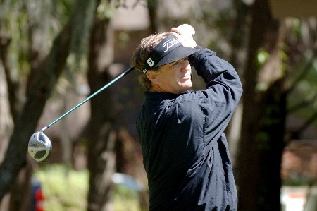 Peter Jacobson  on the second tee  during  the  third round of the MCI Heritage at Harbour Town Golf Links April 16, 2005  at Hilton Head Island.Photo by Al Messerschmidt/WireImage.com