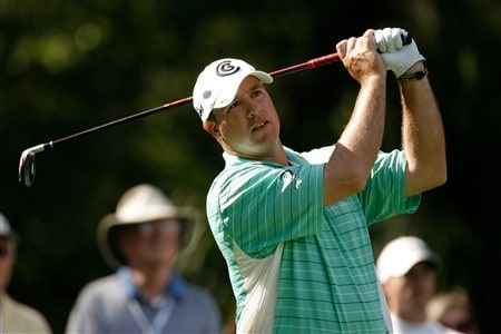 HILTON HEAD, SC - APRIL 18:  Boo Weekley watches his tee shot on the 9th hole during the second round of the Verizon Heritage at Harbour Town Golf Links on April 18, 2008 in Hilton Head, South Carolina.  (Photo by Streeter Lecka/Getty Images)
