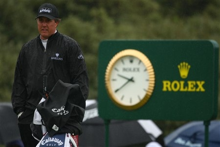 SOUTHPORT, UNITED KINGDOM - JULY 17:  Phil Mickelson of USA waits on the 2nd tee during the First Round of the 137th Open Championship on July 17, 2008 at Royal Birkdale Golf Club, Southport, England.  (Photo by Richard Heathcote/Getty Images)