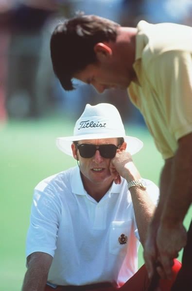 Nick Faldo and David Leadbetter