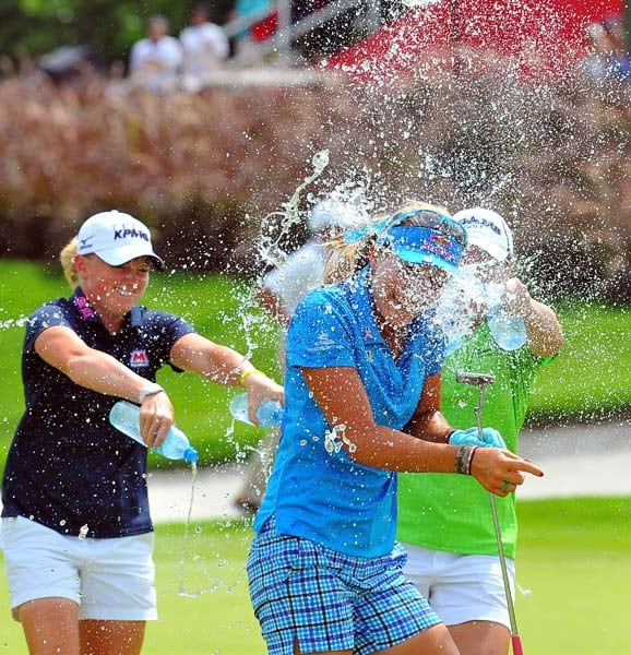 Lexi Thompson and Stacy Lewis