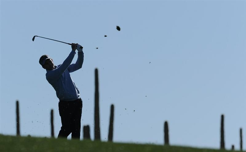 MARANA, AZ - FEBRUARY 22:  Mark Wilson plays a shot during practice prior to the start of the World Golf Championships-Accenture Match Play Championship held at The Ritz-Carlton Golf Club, Dove Mountain on February 22, 2011 in Marana, Arizona.  (Photo by Stuart Franklin/Getty Images)
