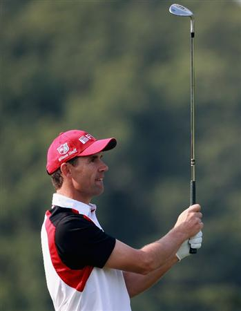 SHANGHAI, CHINA - NOVEMBER 04:  Padraig Harrington of Ireland in action during the first round of the WGC-HSBC Champions at Sheshan International Golf Club on November 4, 2010 in Shanghai, China.  (Photo by Andrew Redington/Getty Images)