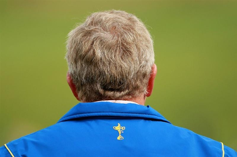 NEWPORT, WALES - SEPTEMBER 30:  Europe Team Captain Colin Montgomerie is seen during a practice round prior to the 2010 Ryder Cup at the Celtic Manor Resort on September 30, 2010 in Newport, Wales.  (Photo by Andrew Redington/Getty Images)