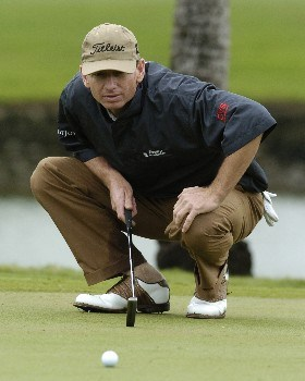 Brad Faxon  competes in second-round competition March 4, 2005  at the Ford Championship at Doral in Miami.