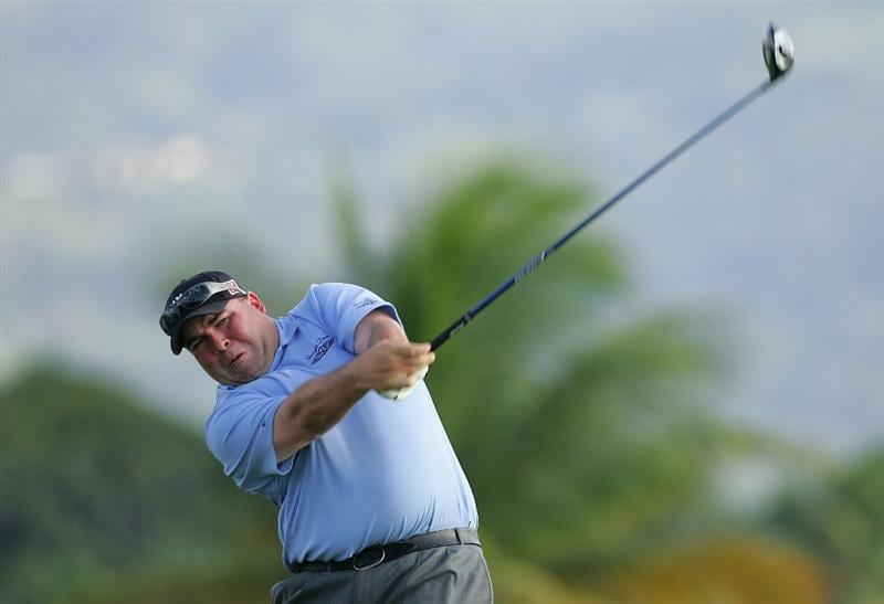 RIO GRANDE, PR - MARCH 13:  Kevin Stadler hits a drive during the second round of the Puerto Rico Open presented by Banco Popular at Trump International Golf Club held on March 13, 2010 in Rio Grande, Puerto Rico.  (Photo by Michael Cohen/Getty Images)