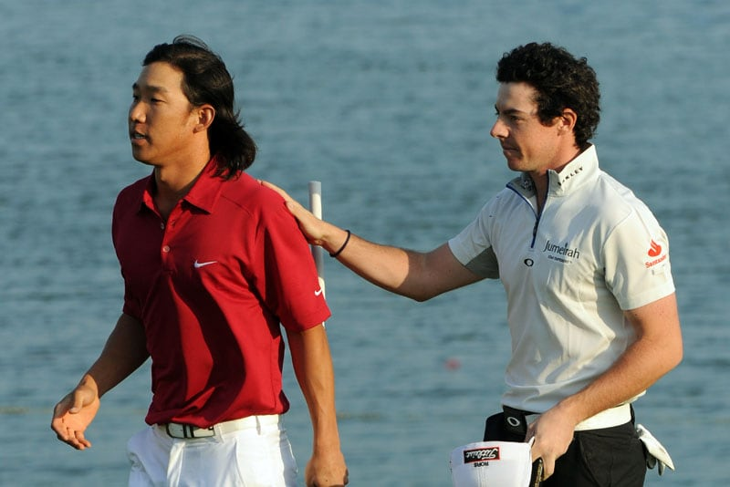 Anthony Kim and Rory McIlroy