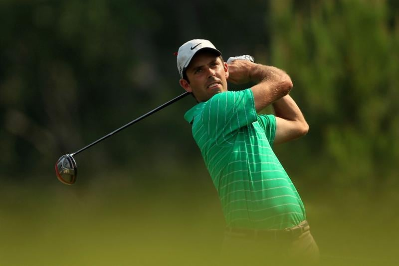 PONTE VEDRA BEACH, FL - MAY 11:  Charl Schwartzel of South Africa hits a tee shot during a practice round prior to the start of THE PLAYERS Championship held at THE PLAYERS Stadium course at TPC Sawgrass on May 11, 2011 in Ponte Vedra Beach, Florida.  (Photo by Streeter Lecka/Getty Images)