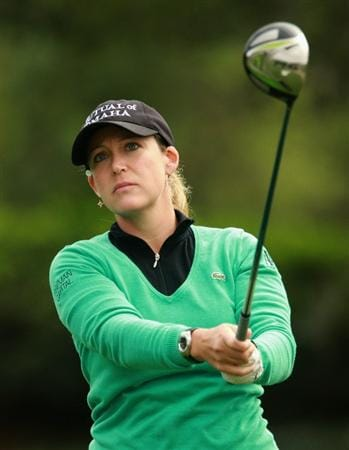 ORLANDO, FL - DECEMBER 01:  Cristie Kerr watches a shot during the pro-am prior to the start of the LPGA Tour Championship at the Grand Cypress Resort on December 1, 2010 in Orlando, Florida.  (Photo by Scott Halleran/Getty Images)
