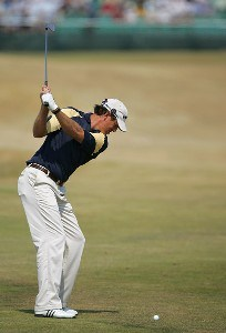 Greg Owen during the first round of the 135th Open Championship at Royal Liverpool Golf Club in Hoylake, Great Britain on July 20, 2006.Photo by Sam Greenwood/WireImage.com