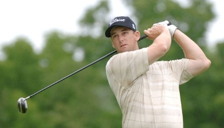Darron Stiles tees off on the 15th hole during the second round of the 2005 Cialis Western Open at Cog Hill Golf and Country Club in Lemont, Illinois on Friday, July 1, 2005.Photo by Al Messerschmidt/WireImage.com