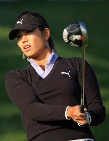 HUIXQUILUCAN, MEXICO - MARCH 21:  Jeehee Lee of the USA hits her tee shot on the 10th hole during the second round of the MasterCard Classic at the BosqueReal Country Club on March 21, 2009 in Huixquiucan, Mexico.  (Photo by Scott Halleran/Getty Images)